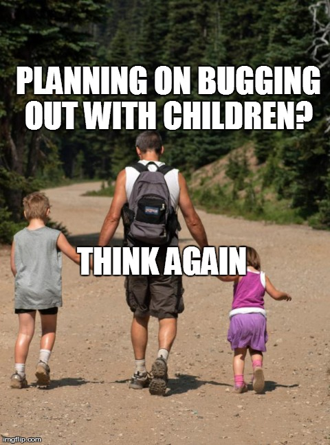 bugging out with children
