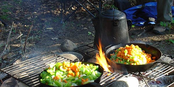 cooking off the grid campfire