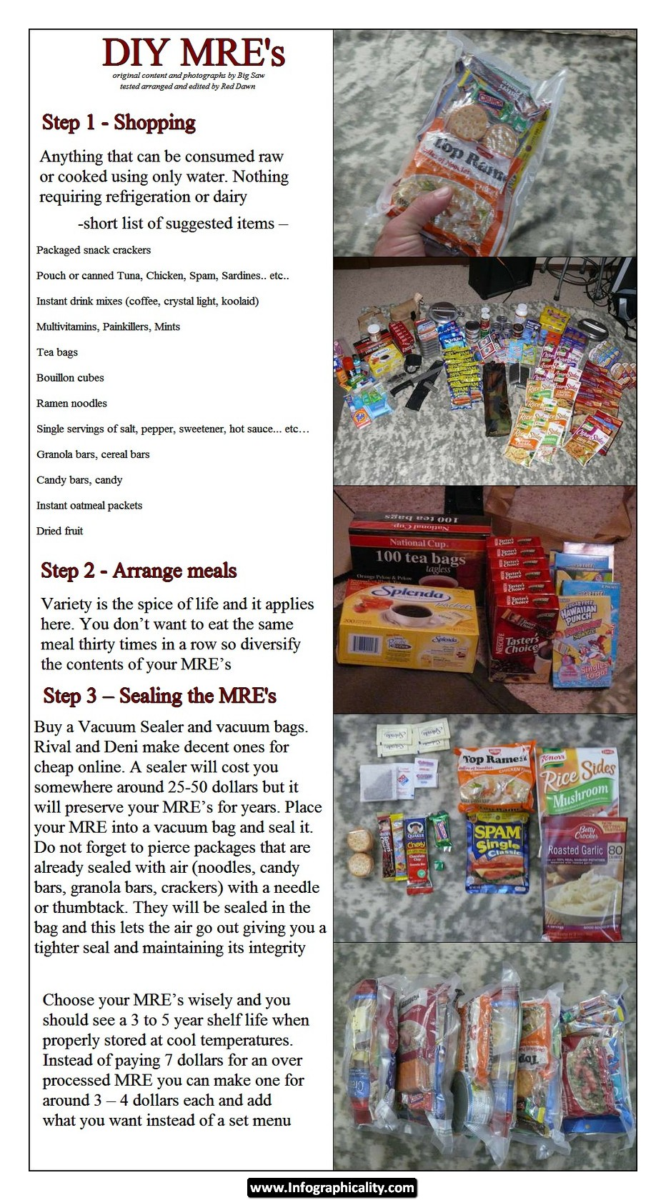 diy mre for preppers