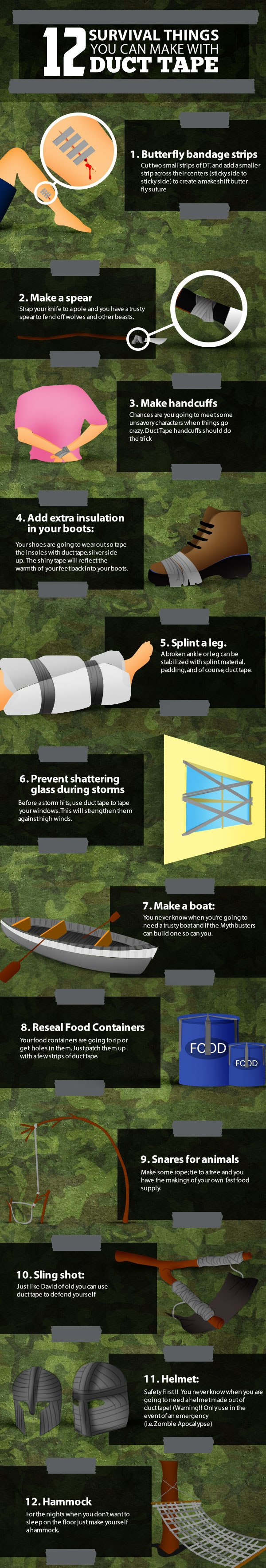duct tape for preppers infographic