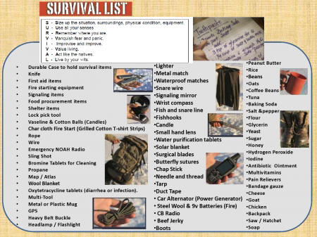 freedom preppers survival gear list. Black Bedroom Furniture Sets. Home Design Ideas